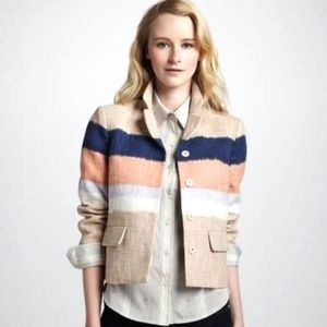 [Tory Burch] cropped ombre woven blazer